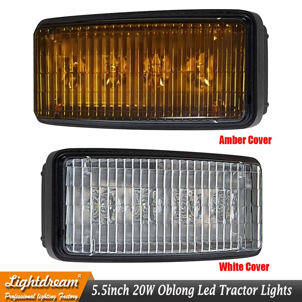 Rectangular pequeña linterna LED RE306510 encaja sonido Gard frente lámpara de capó superior taxi luz en John Deere 40-60 tractores de la serie x1