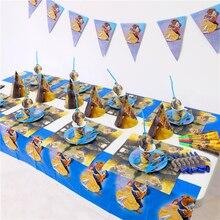 La Bella y La Bestia de los niños conjunto de decoración para fiesta de cumpleaños suministros fiesta de cumpleaños de bebé Paquete de fiesta suministros AW-1668