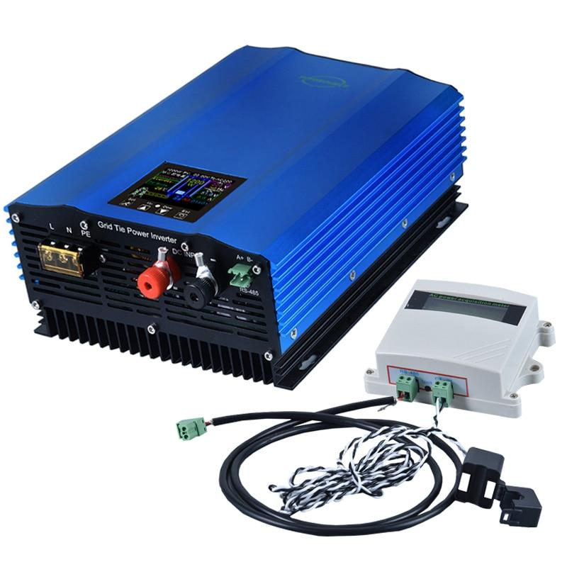 1000W Battery Discharge Auto-Limit MPPT Solar DC24V 48V 72V AC110V 220V 230v Grid Tie Inverter with Limiter Sensor power inverte