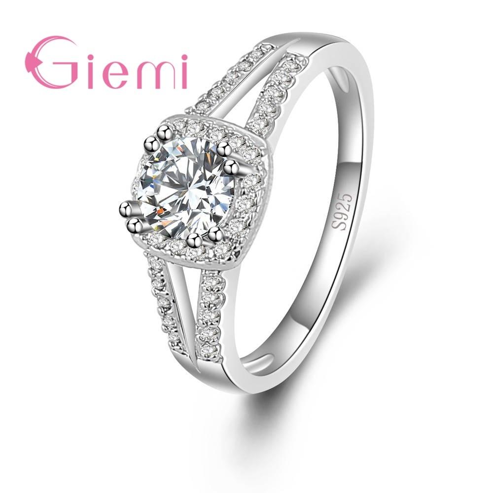 Заводская цена, высокое качество, ручная работа, горячая Распродажа, Настоящее серебро 925 пробы, блестящее кольцо с кубическим цирконием для женщин, свадебные ювелирные изделия