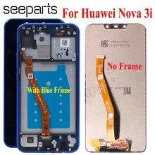 """Wyświetlacz LCD Huawei Nova 3i z oryginalnym 6.3 """"montaż digitizera ekranu dotykowego wymiana INE-LX2 wyświetlacz Huawei Nova 3i LCD"""