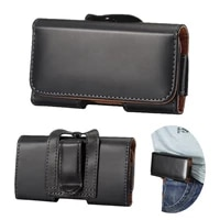 universal pouch leather case for xiaomi redmi 6a 5a 4a 4x note 7 6 5 pro mi 8 a2 lite waist bag magnetic holster belt clip cover