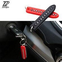 ZD 1X Mobiele Telefoonnummer Card Sleutelhanger Voor Nissan qashqai j11 juke tiida Seat leon fr ibiza Chery accessoires