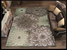 Tapis moderne absorbant et antidérapant   Tapis en laine, de Style européen, mode, motif Floral moderne, tapis pour salon, 100%