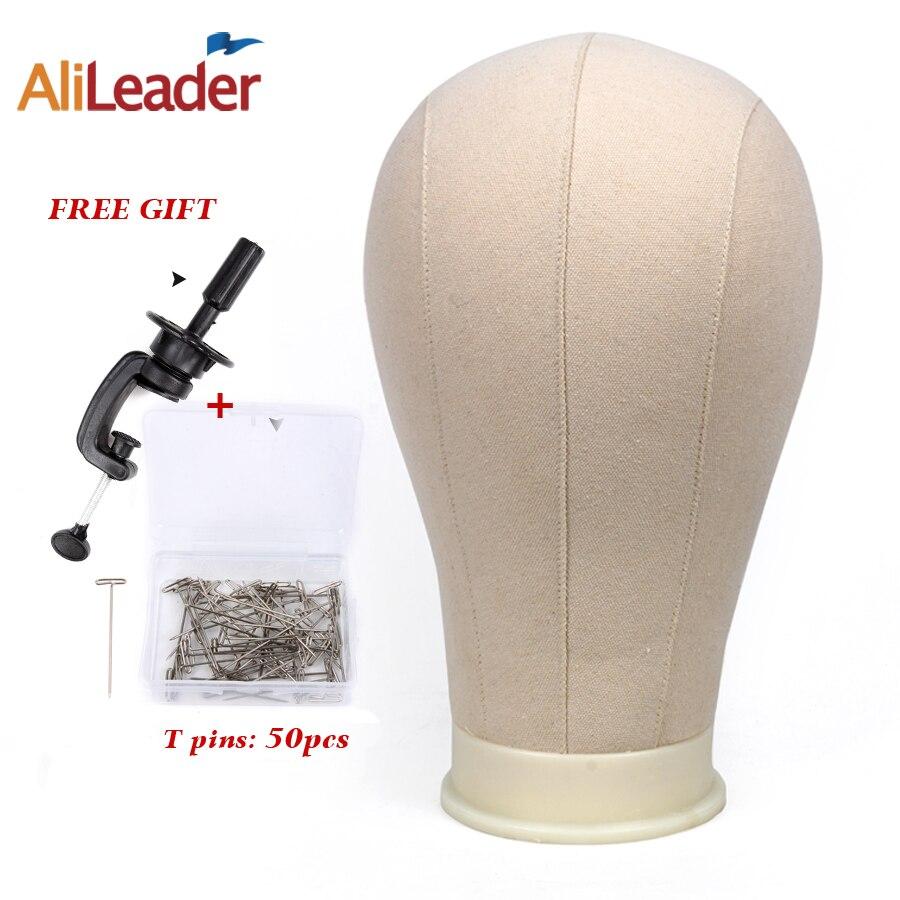 Alileader-Mannequin de formation   Bloc de tête de toile pour perruques de cheveux en dentelle de 21 pouces/22 pouces/23 pouces/24 pouces/25 pouces