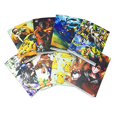 Pokemon álbuns 8 bolso/página 144 cartões coletor pasta álbum crianças presente