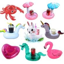 YUYU support de verre gonflable licorne flamant rose porte-boissons piscine flotteur bain piscine jouet fête décoration Bar sous-verres
