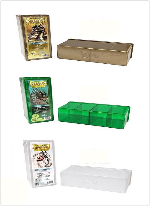 Original Capacity 360+ Dragon Shield Card Box Transparent Acrylic Material Cards Storage Box for Yugioh Pokemon MTG