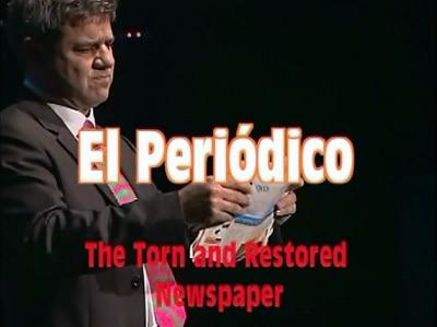 Torn and Restored Newspaper by Antonio Romero,Magic Tricks torn