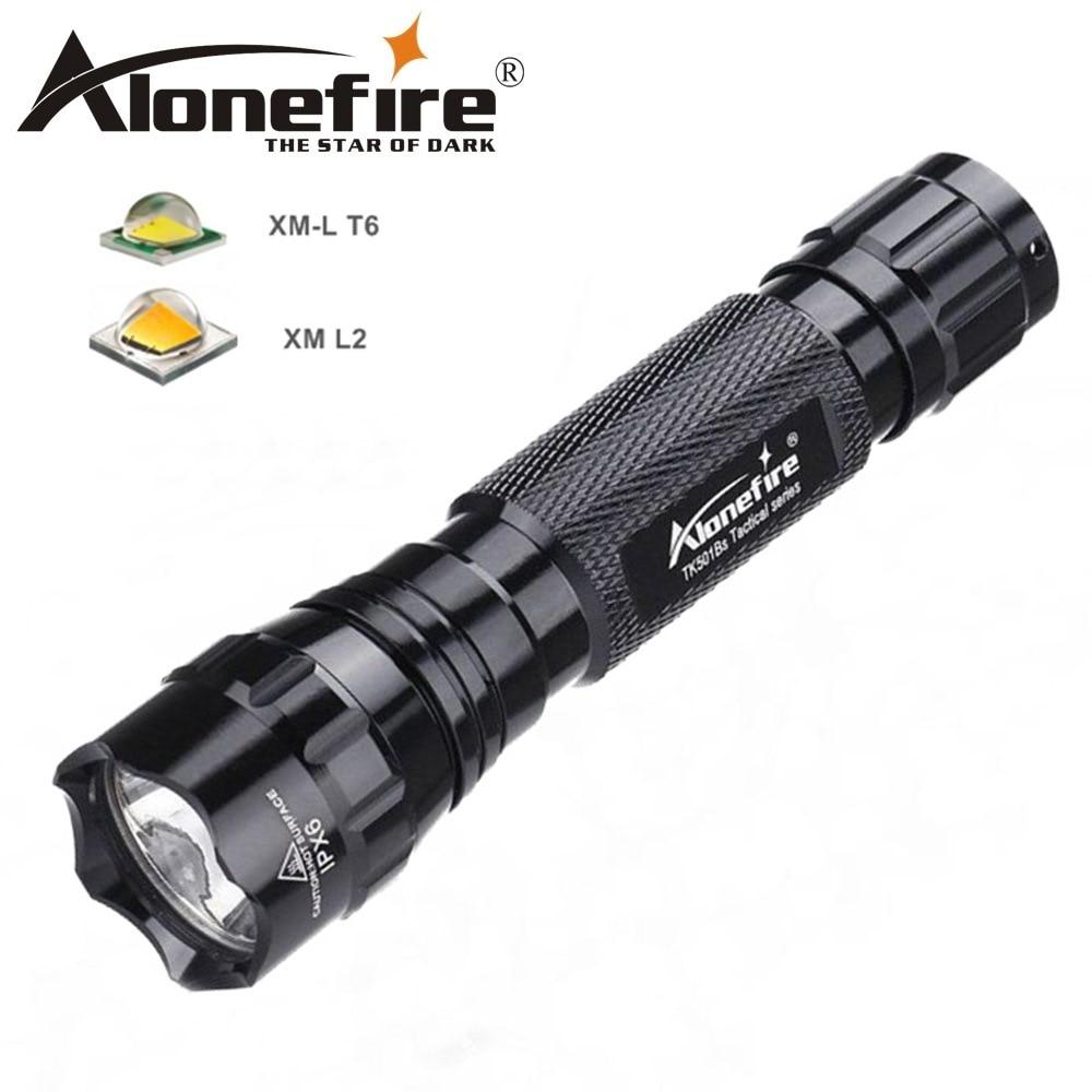 AloneFire 501Bs CREE XML T6 L2 тактический светодиодный фонарь точечный фонарь для кемпинга фонарь для охоты 18650 перезаряжаемый аккумулятор