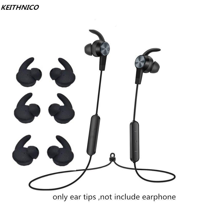 Keithnico 3 pares de silicone orelha buds dicas eartips substituição fones gancho para huawei honor xsport fone ouvido bluetooth am61