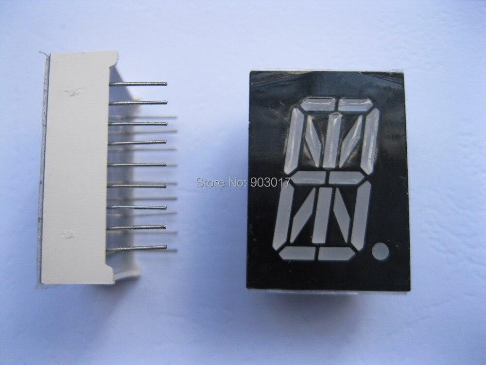 """12 pces display led ânodo comum 0.8 """"27.7x20mm vermelho 1 digital 16 segmentos 18pin"""
