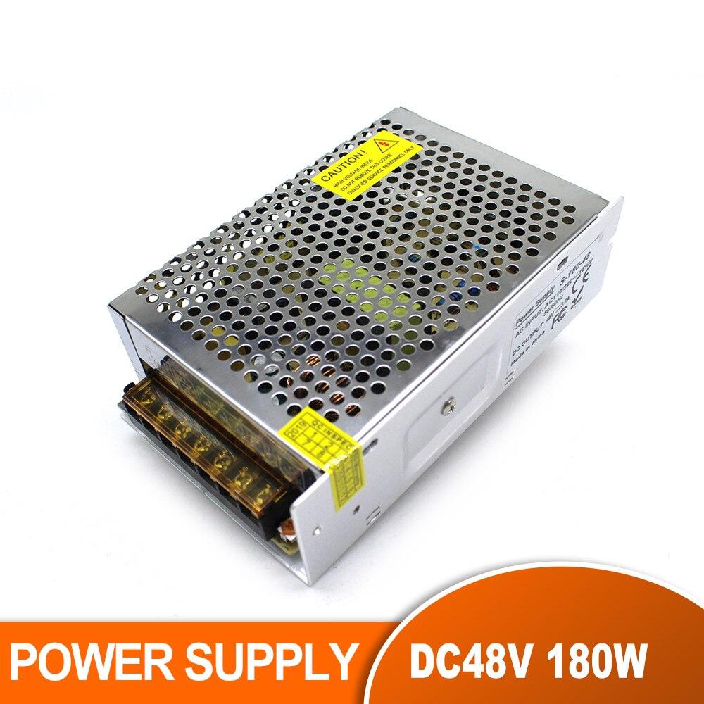 Interruptor de conmutación de fuente de alimentación de un solo Salida DC 48V, transformadores de 3,8 a 180W AC110V 220V a DC48V SMPS para motores paso a paso CNC CCTV