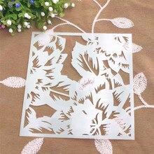 Weed scrapbook stencils spray plastic mold shield DIY cake hollow Embellishment printing lace ruler valentine