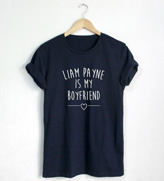 Liam Payne es mi novio camiseta cita camisa moda bloguero Hipster camiseta Unisex más tamaño y Colors-A672