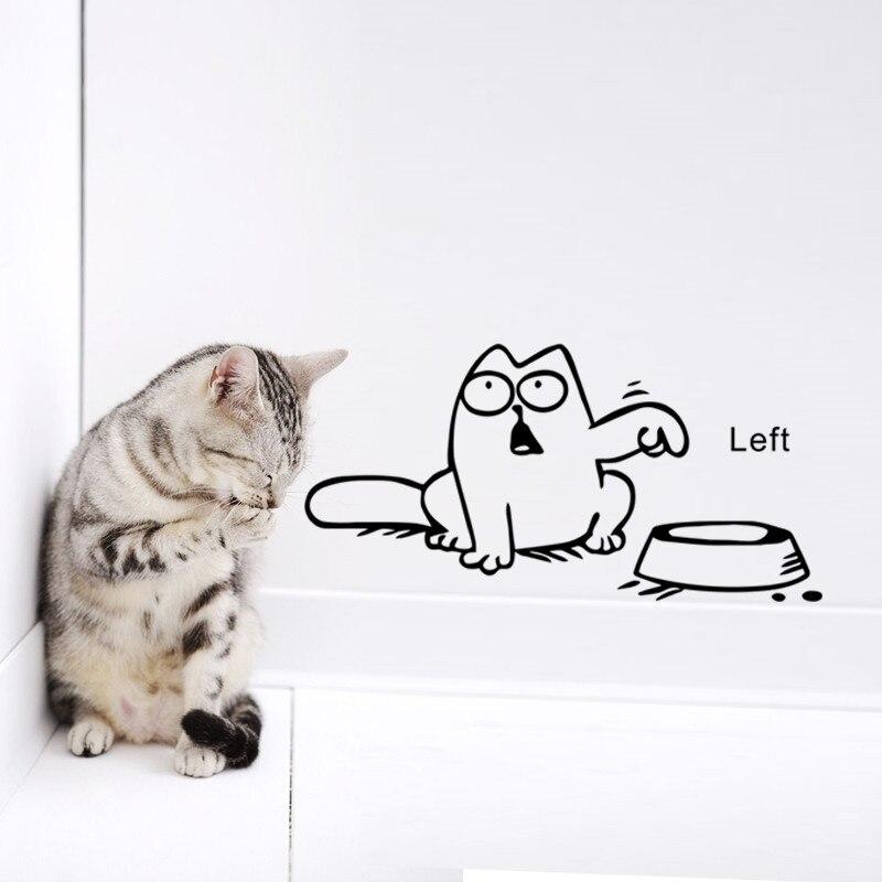 Gato engraçado Dos Desenhos Animados laptop janela Do Carro de vinil adesivo de parede do tanque bacia Do Gato decalque Decalques Papel De Parede 3d adesivos decoração da sua casa &