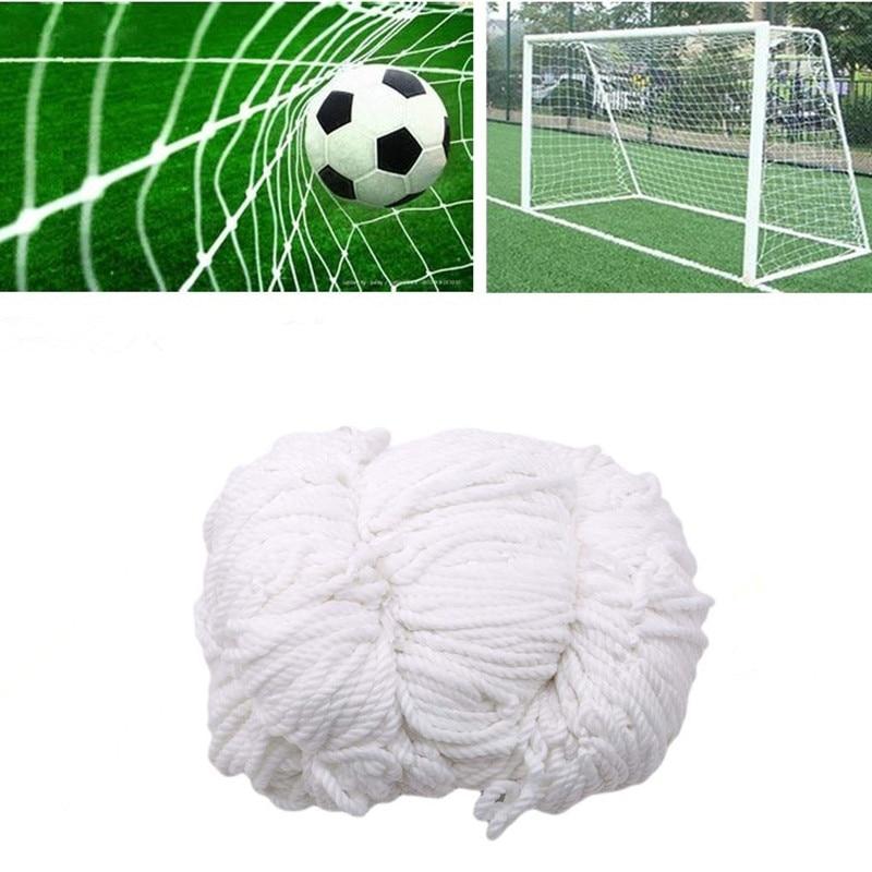 Bola de futebol net para o objetivo de futebol post malha para portões polietileno formação pós redes ao ar livre footall crianças jogo júnior esportes