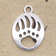 12 pièces breloques patte dours 30x22mm Antique Bronze couleur argent pendentifs faisant bricolage à la main tibétain Bronze couleur argent bijoux