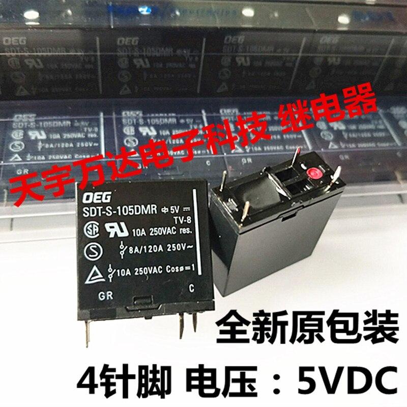 SDT-S-105DMR OEG 10A 250VAC реле 4PIN