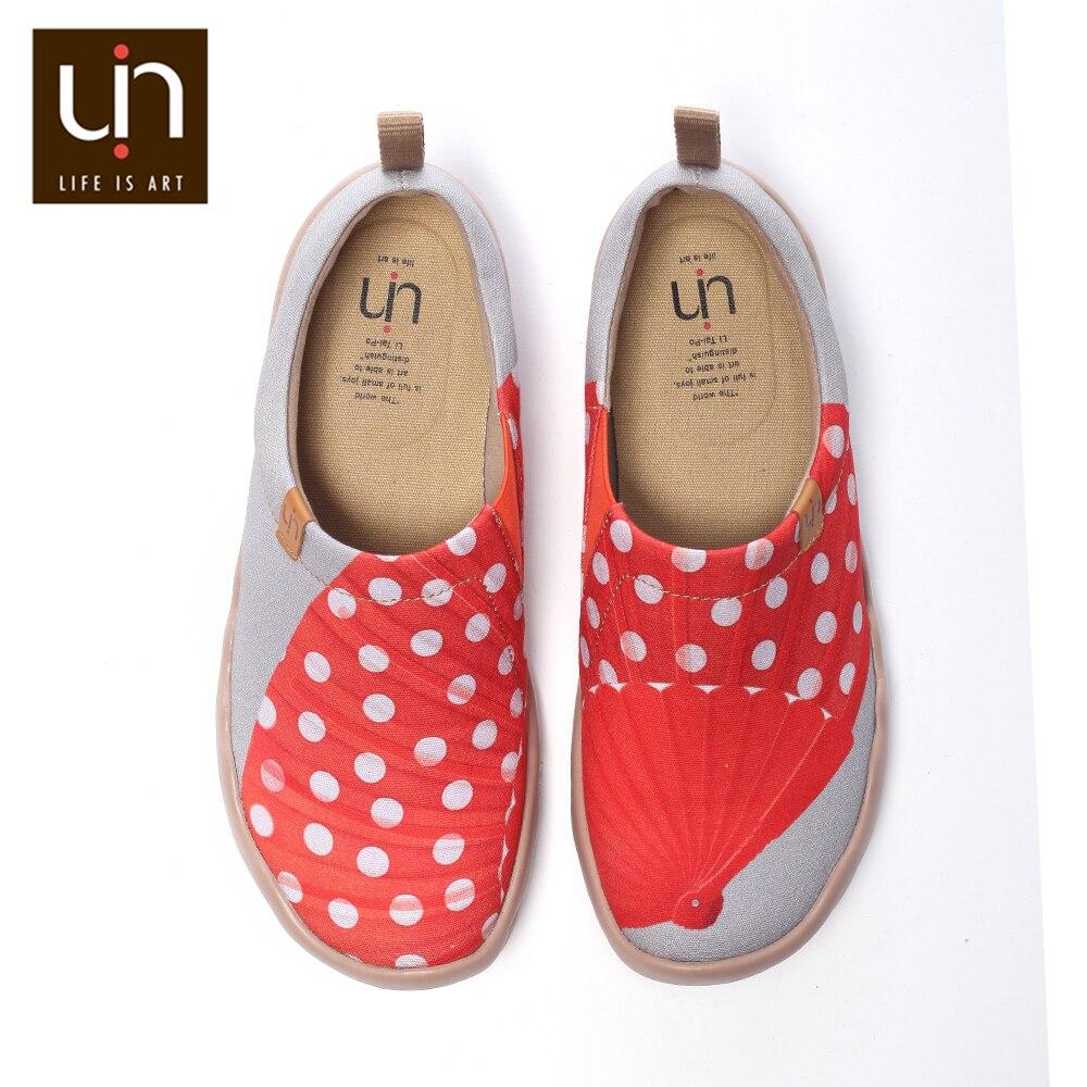 Design de Sonho de Uin Felahikum Pintados Loafers Feminino Casual Deslizamento-em Tênis Moda Viagens Senhoras Apartamentos