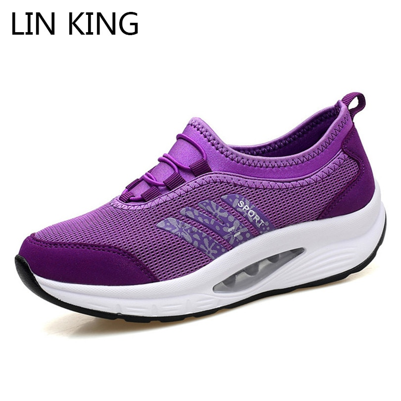 LIN KING Comfortable Women Casual Shoes Fashion Breathable Running Walking Swing Shoes Slip On Ladies Sneakers Tenis Feminino lin king comfortable women casual shoes fashion breathable running walking swing shoes slip on ladies sneakers tenis feminino