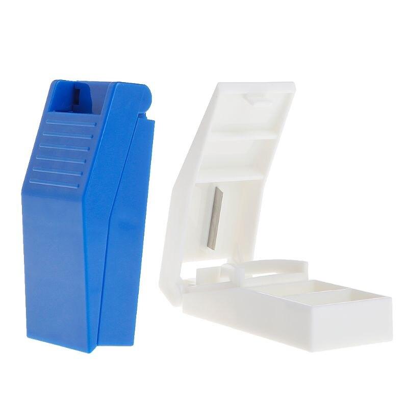 Nuevo compartimiento de almacenamiento de pastillas caja soporte de medicina cortador de tabletas divisor