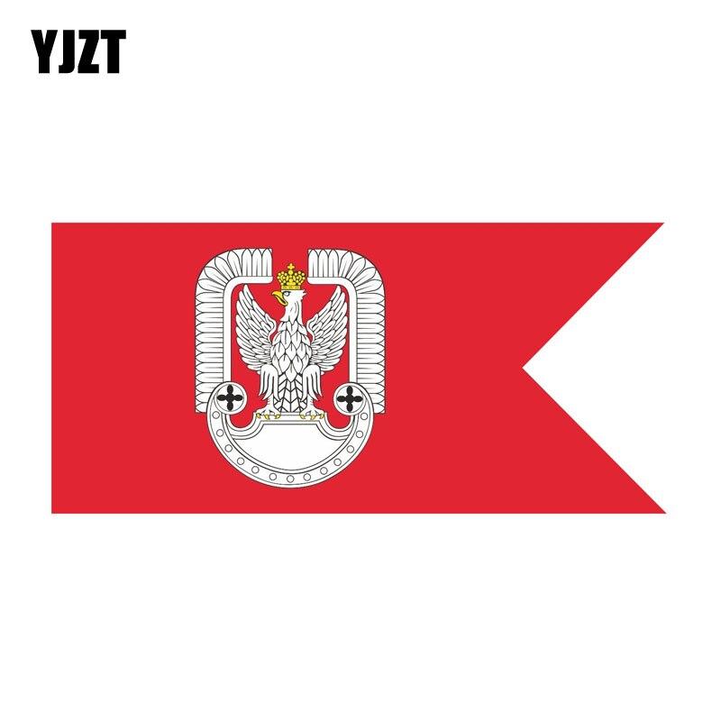 Yjzt 14 cm * 6.5 cm estilo do carro polonês polónia força aérea bandeira decalque corpo carro adesivo 6-1567