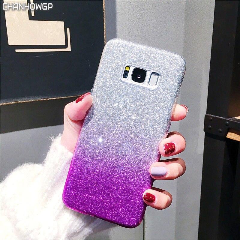 Bling градиентный чехол для Samsung Galaxy S5 S6 S7 edge S8 S9 Plus Note 8 A3 A5 2016 J3 J5 J7 Neo 2017 J2 Pro Prime A8 2018