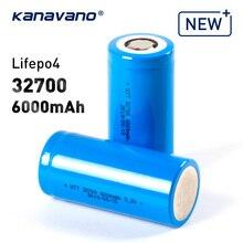Kanavano 32700 3,2 V 6000mAh lifepo4 akku zelle LiFePO4 5C entladung batterie für LED Taschenlampen Notfall lichter