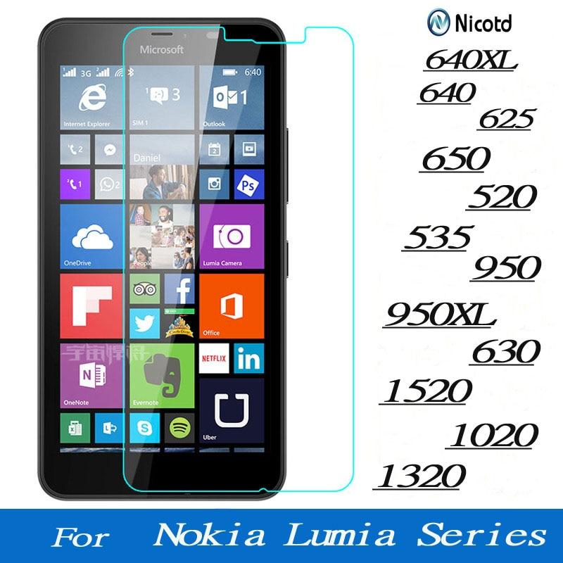 Protector de pantalla de vidrio templado para Microsoft Lumia Nokia 640, 640XL,...