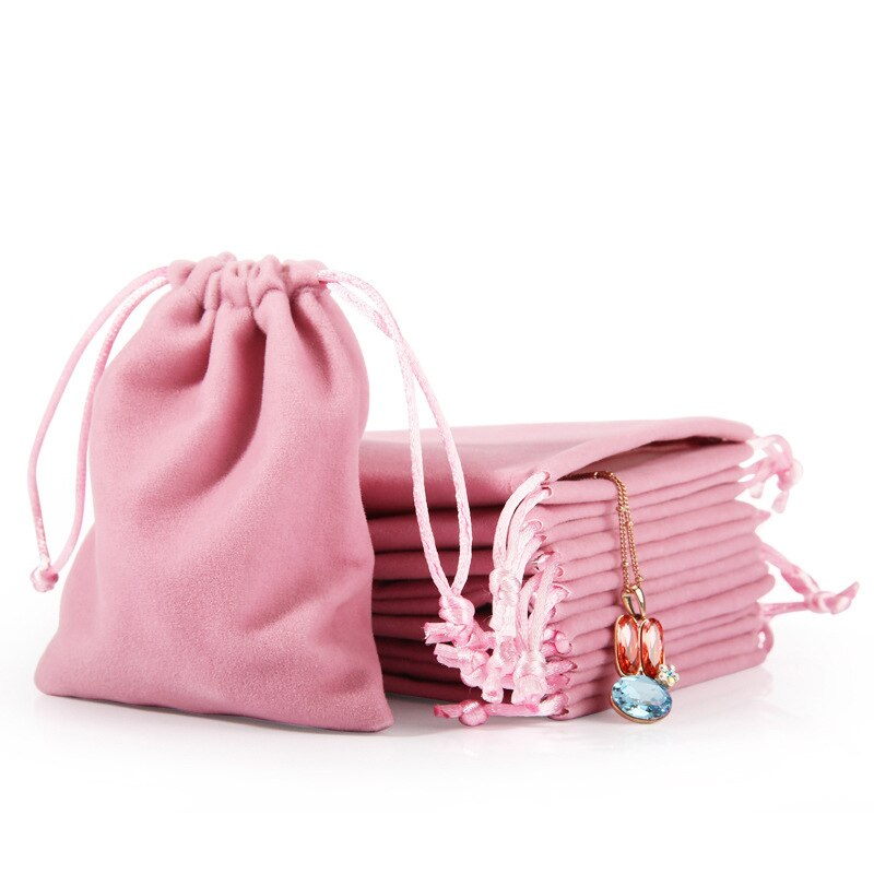 1 Uds bolsa para guardar joyas bolsitas de terciopelo con cordón bolsas de regalo joyería regalo exhibición joyería embalaje bolsas almacenamiento hogar bolsa de boda