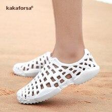 Kakaforsa femmes jardin sandales été creux pantoufles femmes trous sandales mode plein air respirant chaussures de plage Croc chaussures