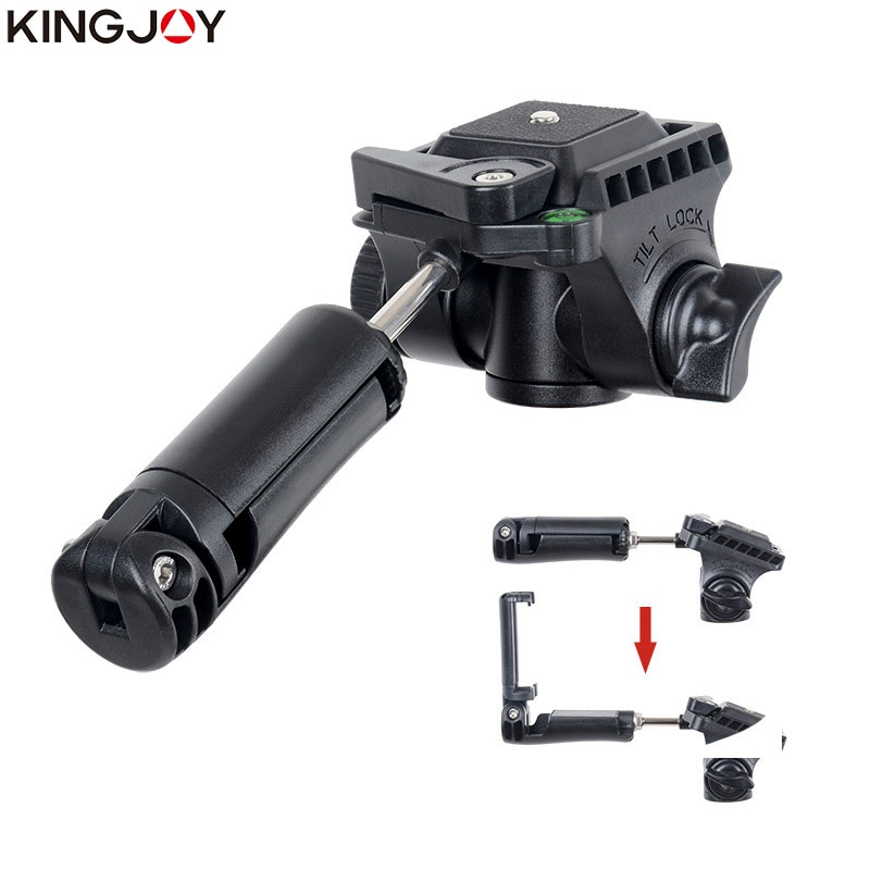 KINGJOY Official VT-930 Professional Light Weight Camera Tripod Stand Holder Stable Fluid Damping Tripod Kit For All Models enlarge