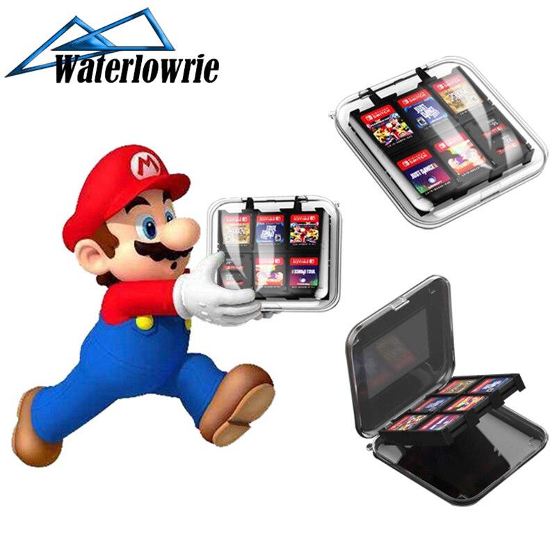 Карта памяти для игр WaterLowrie 12 в 1, держатель для карт Micro SD, для Nintendo Switch, NS Switch Lite, хранение картриджей в коробке