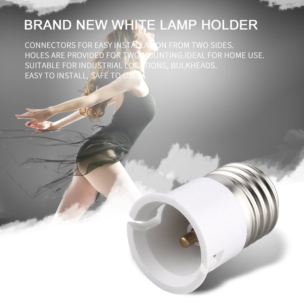 Adaptador de soporte de lámpara de enchufe NDS66 de fácil instalación E27 a B22
