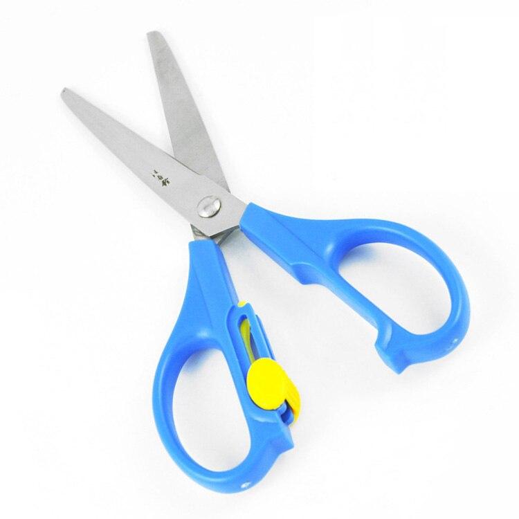 3 pcs lot 160mm de comprimento em aço inoxidável tesoura de estudantes crianças tesoura de papel de segurança com lâmina ponto redondo