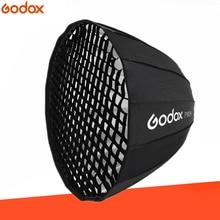 Godox P90H 90CM Deep Parabolic Bowens Mount Portable Softbox + P90 Grid for Studio Flash Photo Studio