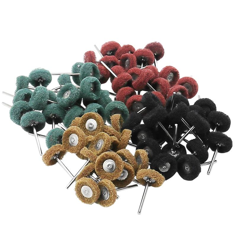 80 pezzi / set mini spazzola spugnetta abrasiva ruota abrasiva in - Utensili abrasivi - Fotografia 6