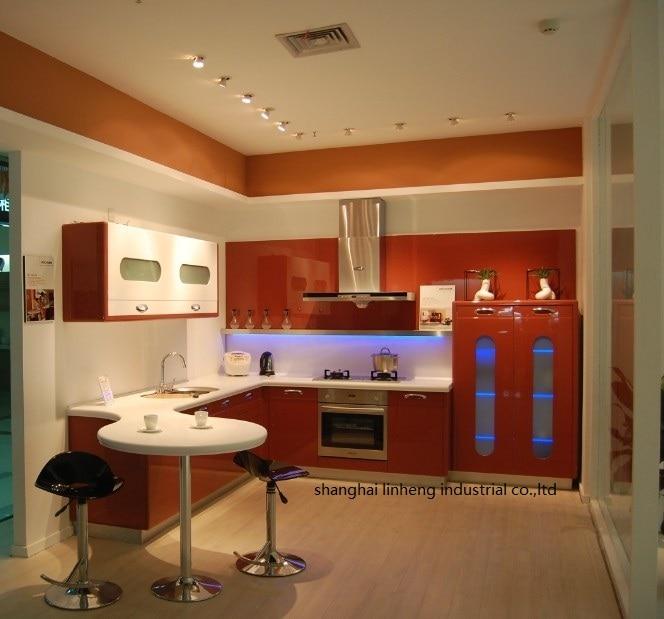 Armario de cocina moderno de alto brillo/laca (LH-LA051)