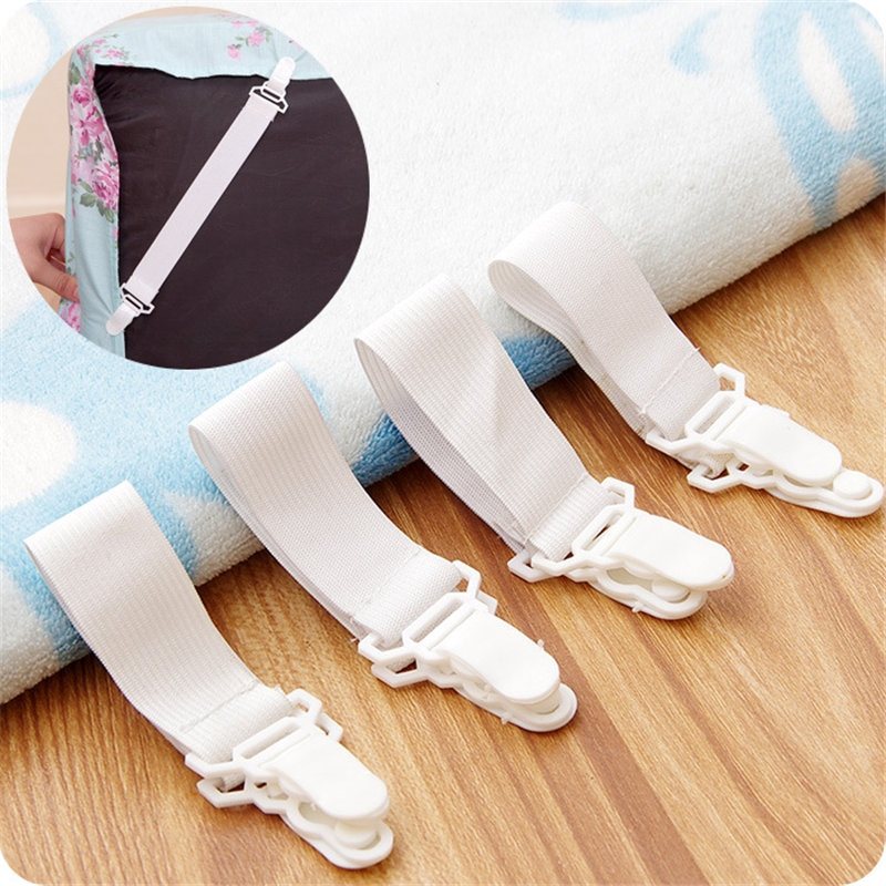 4pcs Nylon Buckle Elastic Band for Bed sheets Super Practical Bedspread Non Slip Sheet Fixer Holder Bedding sets Accessory