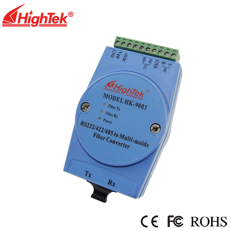 الصف الصناعية rs232/485/422 إلى SC المتعدد الألياف البصرية تحويل المتعدد الألياف البصرية وحدة HK-9003