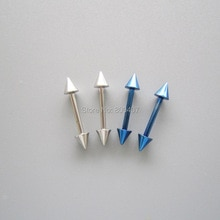 12G SS 316L acier Colbalt bleu droite Barbell cônes Piercing bijoux 4 Pack BJ-1-040