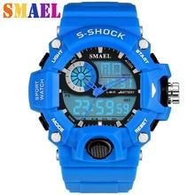 Nouvelle montre de sport de mode hommes étanche s-shock montres militaires LED Quartz double affichage montres pour hommes en plein air Reloj Hombre