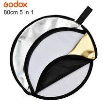 "GODOX 32 ""80cm Multi-disc 5 in 1 Foto Licht Faltbare Reflektor für Studio Fotografie Flash"