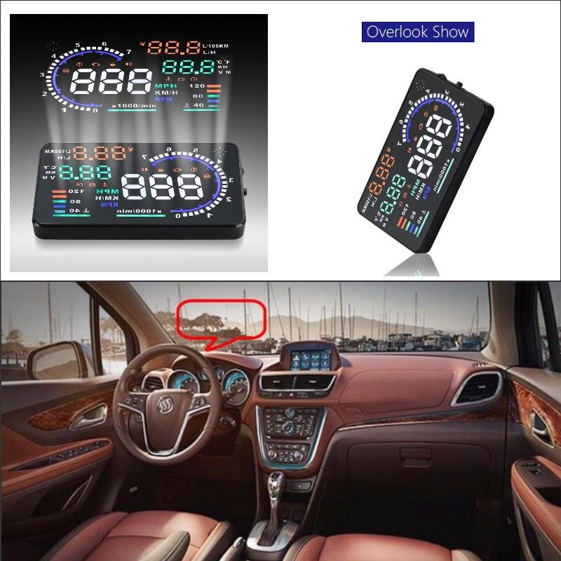 Para Buick Encore/Enclave/Envision 2010-2019 AUTO HUD pantalla frontal de coche Saft proyector de pantalla de conducción-parabrisas reflectante