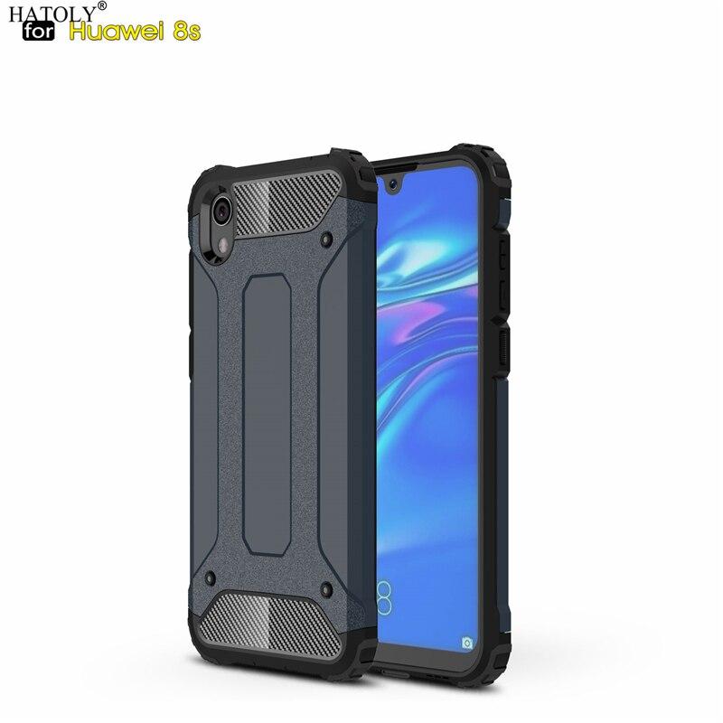 Para coque huawei honor 8s caso y5 2019 armadura pesada magro de borracha dura capa dura silicone caso do telefone para huawei honor 8s KSE-LX9