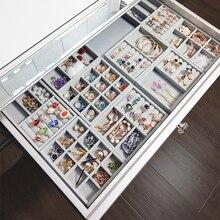 M 12 grids gray ring  storage trays high quality grey velvet jewelry ring display storage tray C171-2