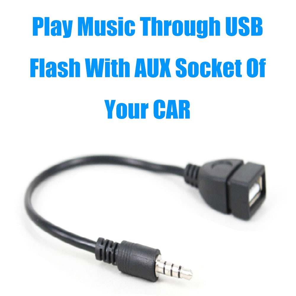 Cable Aux. USB Cable de Jack de Audio de 3,5mm AUX macho...