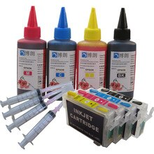 73N cartucho de tinta rellenable + 4 Color 400 ML tinta para epson T10 T11 T20 T20E T21 T30 T40W TX100 TX110 TX111 TX200 TX210 impresora