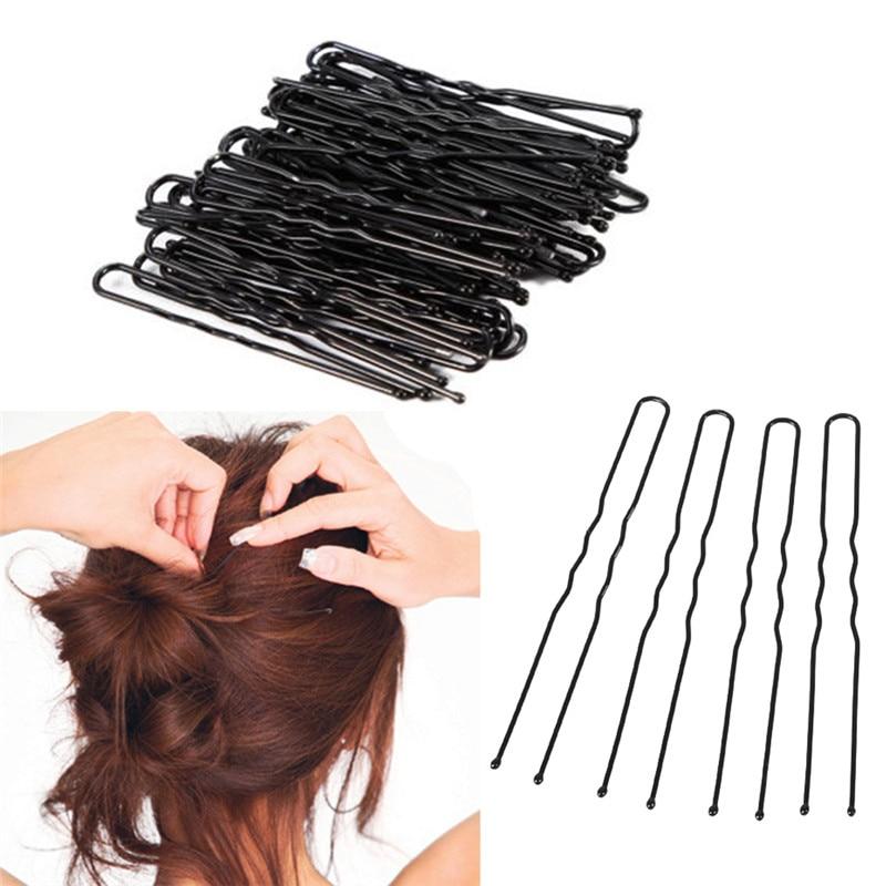 Заколки для волос, 20 шт./лот, черные u-образные заколки для волос, мини-размер, зажим для салона, металлический зажим для волос, инструменты для укладки волос
